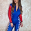 Thumbnail: Grid Girl Catsuit Zip - Blue Racing