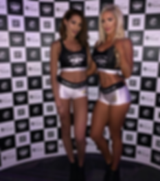 Sports Bra & Hotpants Grid Girl Outfits