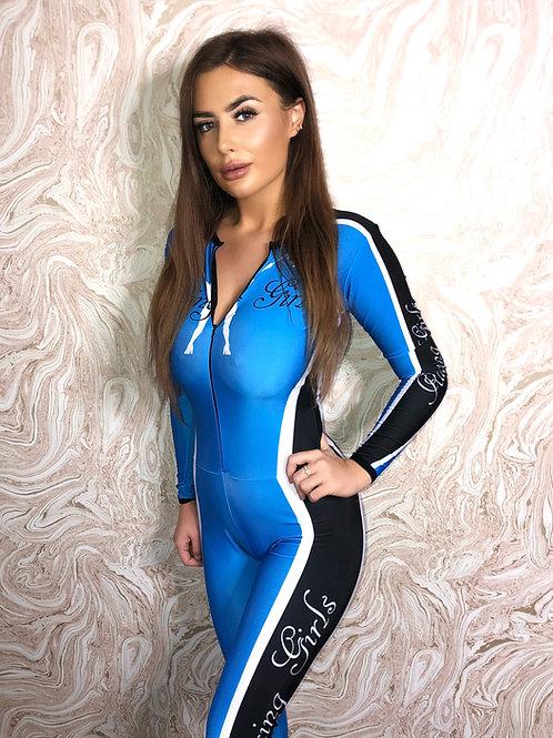 Grid Girl Catsuit - Zip - Blue Racing Girls