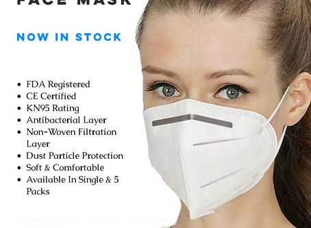 KN95 Face Masks Now Available