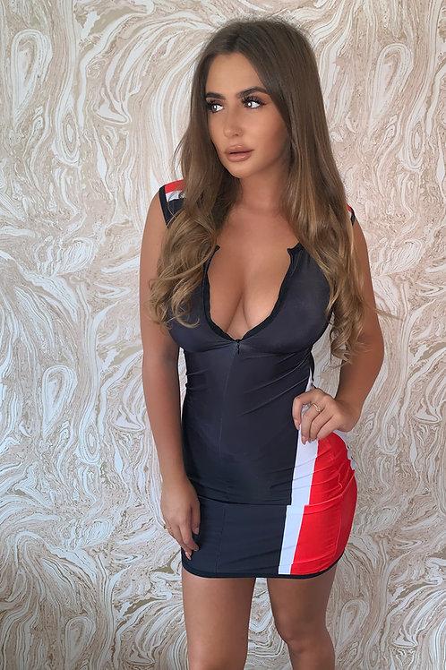 Isla Black Sleeveless Dress