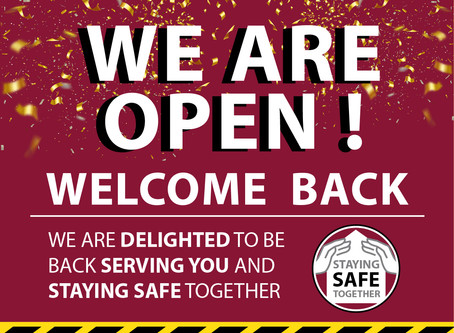 We are back open again!