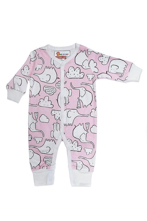 Pink Elephant Romper