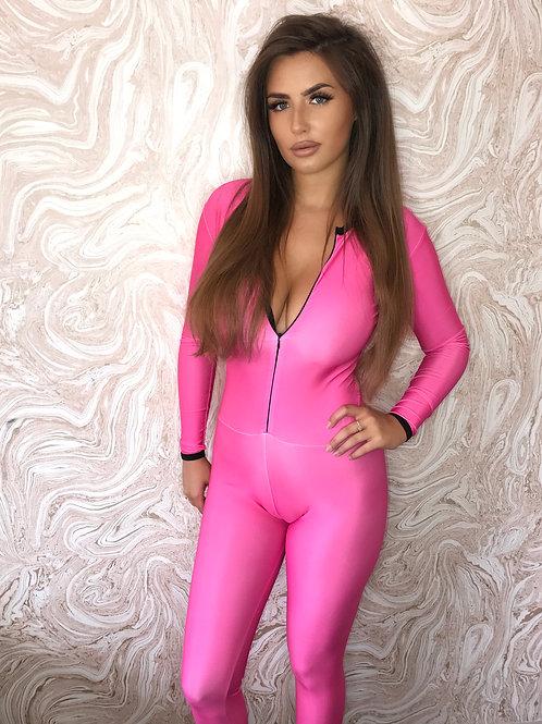 Plain Catsuit - Pink