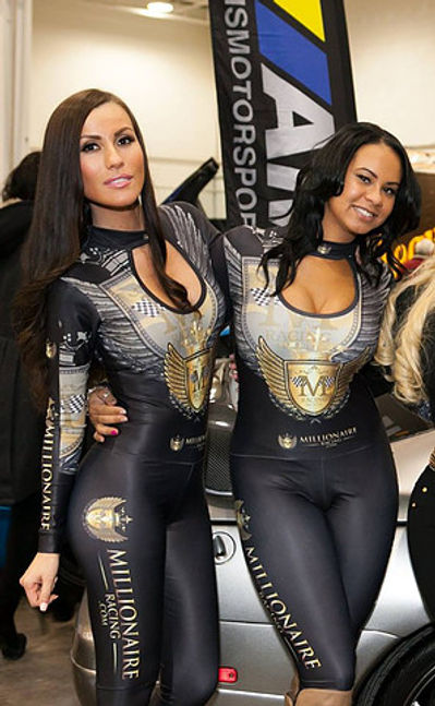 Grid Girl Outfits Keyhole Catsuit