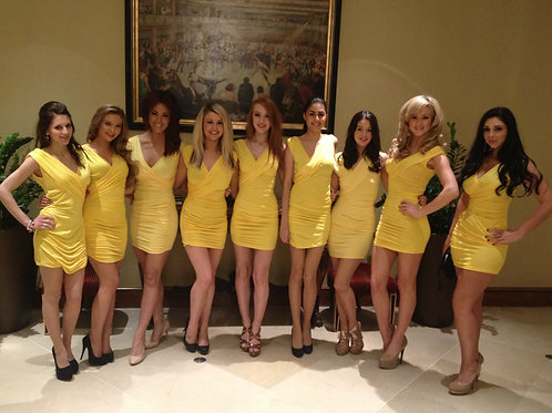 Yellow Promo Girl Dress