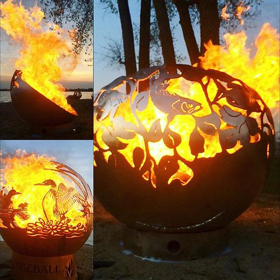 FISH ECLIPSE FIREBOWL FIREBALL FIREPITS fire ball fire pit globe sphere f