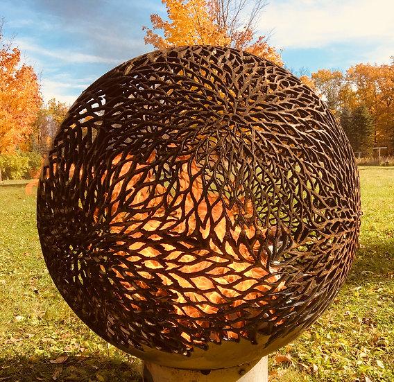 Dahlia - Flower Power - Fireball Fire Pit Sphere Fire globe