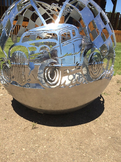 HOT ROD FIREBALL FIRE PIT- Fire Pit Sphere Fire globe