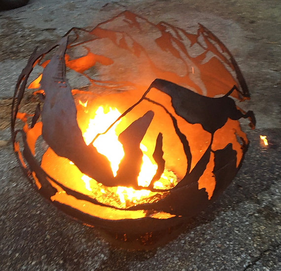 Denali - Mountain - Fireball Fire Pit Sphere Fire globe