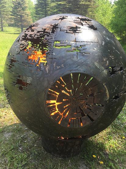 "DEATH STAR FIRE BALL fire pit  30"" -Fire Pit Sphere Fire globe"