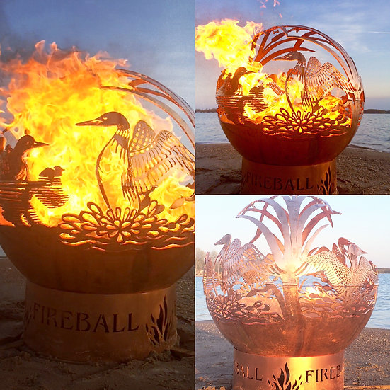 DANCING LOONS FIREBALL FIRE PIT- Fire Pit Sphere Fire globe