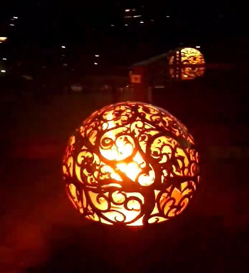 WAVES FIREBALL FIRE PIT- Fire Pit Sphere Fire globe