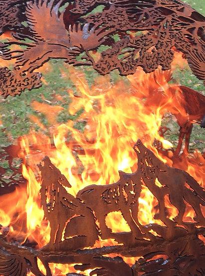 WILD FIREBALL FIRE PIT- Beau's Woods Fire globe