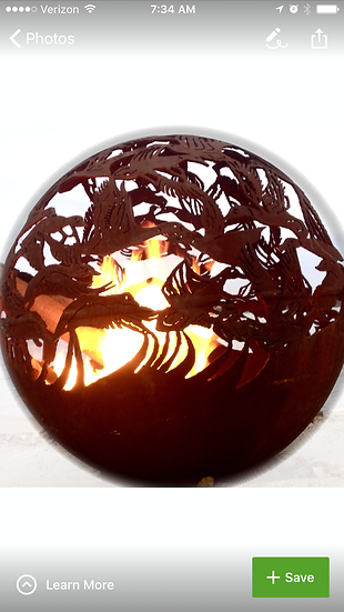 DUCKS FIREBALL FIRE PIT- Fire Pit Sphere Fire globe