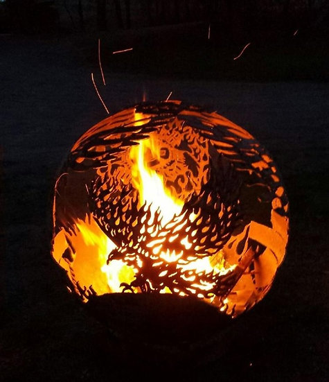 CUSTOM FIREBALL FIRE PIT - Fire Pit Sphere Fire globe