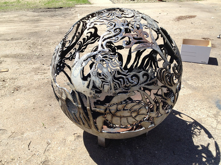 MERMAID FIREBALL FIRE PIT- Fire Pit Sphere Fire globe