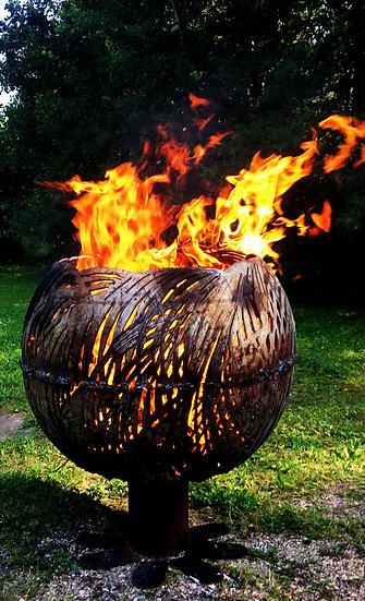 Palm Tree Fireball Fire Bowl - Fire Pit Sphere Fire globe