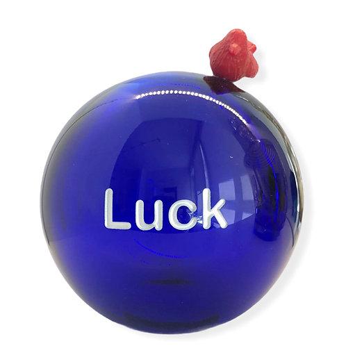 Cobalt Message On a Ball Luck