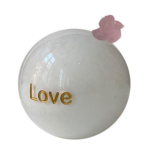 Milk Pink Message On a Ball Love