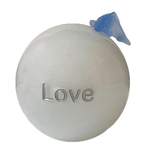 Milk Blue Message On a Ball Love