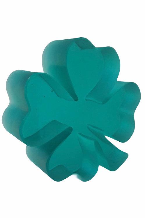 Clover Sculpture Emerald