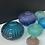 Thumbnail: Large Sea Urchin Vase Vase Aegean Blue
