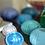 Thumbnail: Small Sea Urchin Vase Lonian Blue