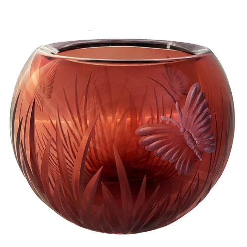 Butterfly Vase Ruby