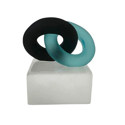 Eternal Bond Turquoise and Black on Ice