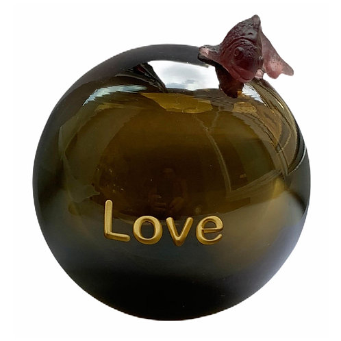 Message On a Ball Olive Love