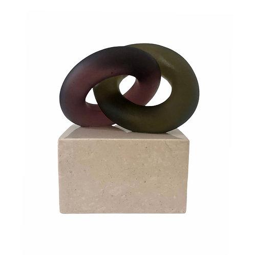 Eternal Bond Olive Green and Murdum on Sand Marble