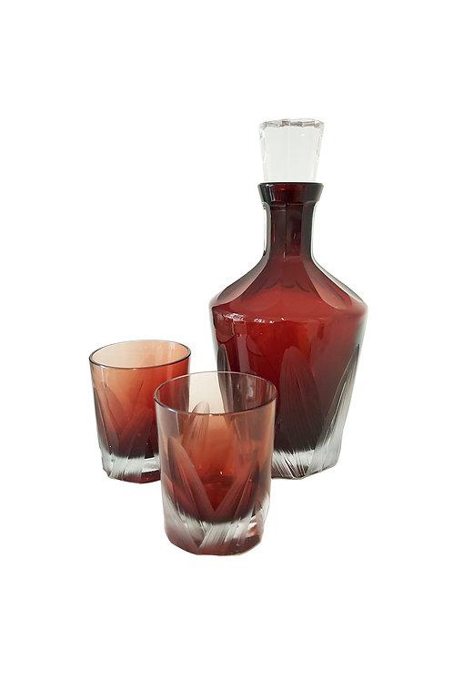 Barware Carafe Set Red