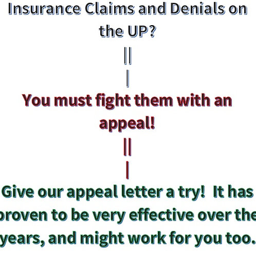 Appeal Letter for Denied Claims