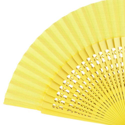 Abanico Calado Yellow 23 cm