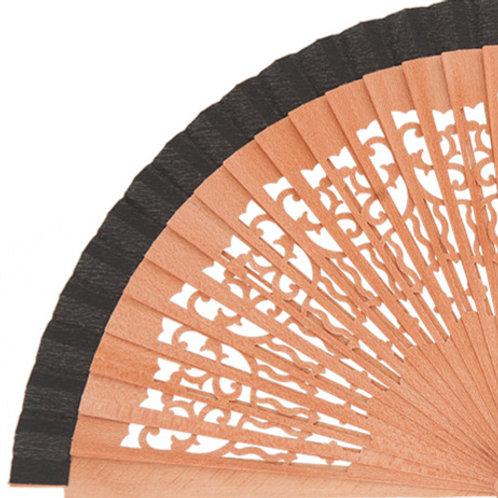 Abanico Peral Calado Black 21 cm