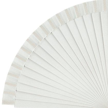 Abanico Liso White 23 cm