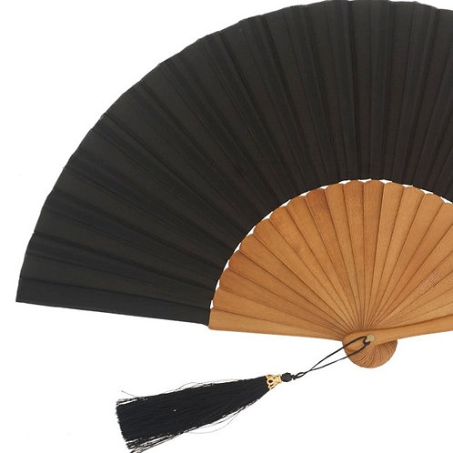Abanico Exclusivo Arce-Seda Black 23 cm