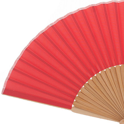 Abanico Bambú Red 21 cm