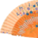 Abanico Floral Caramel 23 cm