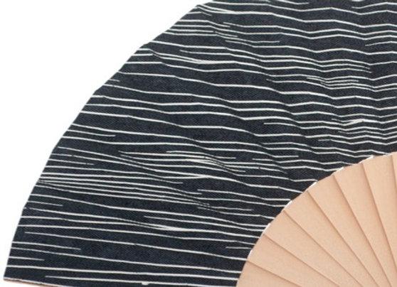 Abanico Abedul Liso Black 23 cm