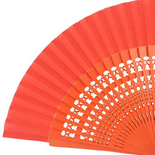 Abanico Calado Orange 23 cm