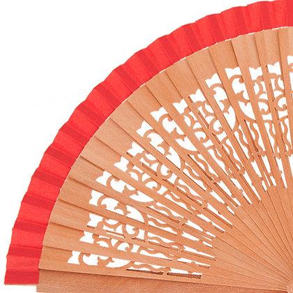 Abanico Peral Calado Red 21 cm