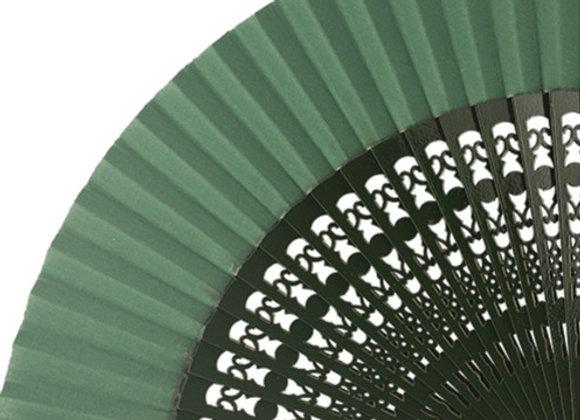 Abanico Calado Dark Green 23 cm