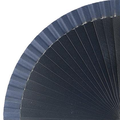 Abanico Liso Blue 23 cm