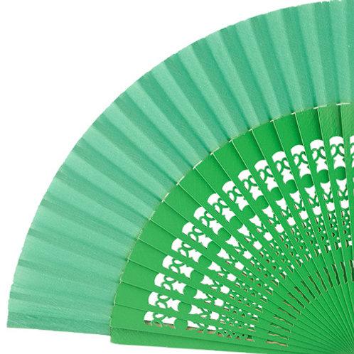 Abanico Calado Green 23 cm