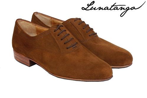 Lunatango Oxford Milonga Gamuza Marrón Heel 3,5 cm