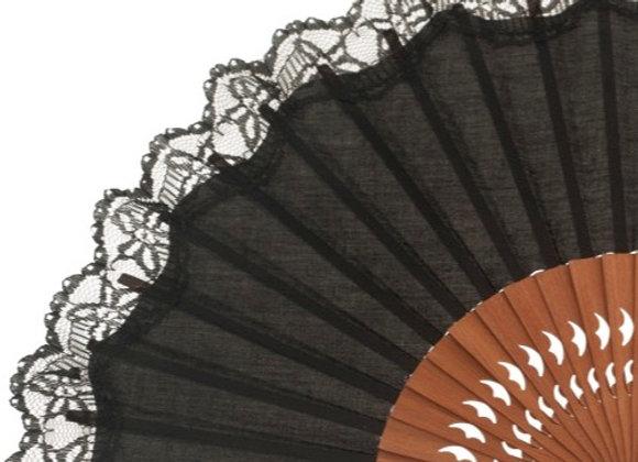 Abanico Exclusivo Black 23 cm