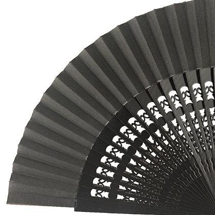 Abanico Calado Black 23 cm