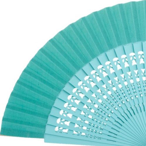 Abanico Calado Aquamarine 23 cm